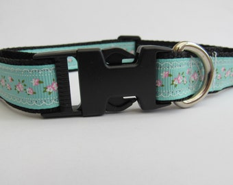 Turquoise shabby chick | Spring/summer dog collar
