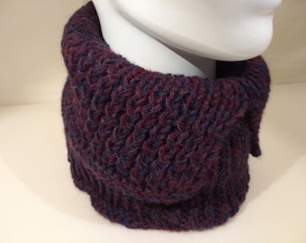 Snood in pure Alpaca hand knitted neck circumference