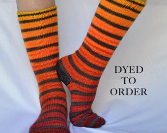 "Striped Gradient Matching Socks Set - ""Burning Embers"""