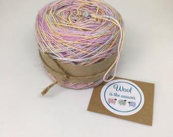 Hand Dyed 4 ply Superwash Merino, Silk, Baby Alpaca Hydrangea Sorbet OOAK