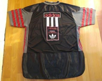 ADIDAS jersey, vintage t-shirt of 90s hip-hop clothing, 1990s hip hop shirt, OG, gangsta rap, black, basketball, run dmc size XL, rear!!!