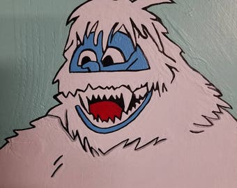 Hand Painted - Bumble The Abominable Snowman wall art - home decor - Christmas decor