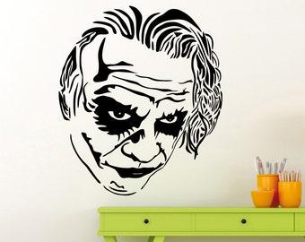 Joker Wall Sticker DC Marvel Comics Superhero Vinyl Decal Home Interior Decoration Waterproof High Quality Mural (220su)