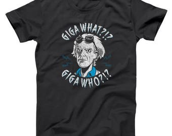 Giga What Who ? Back To The Future Flux Capacitor Doc Basic Men's T-Shirt DT1164
