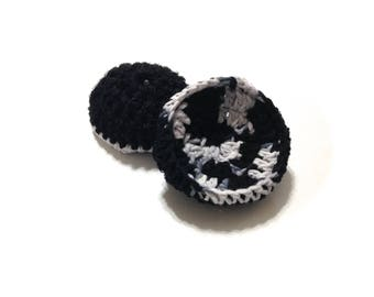 Dalmatian Crocheted Cotton And Nylon Netting Dish Scrubbies-Pair