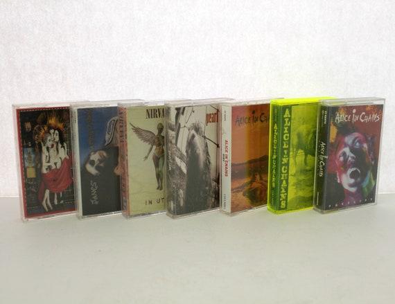 Vintage Lot 7 Cassette Tapes, Grunge Alt Rock, Alice In Chains | Pearl Jam | Nirvana | Jane's Addiction