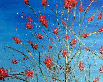 Red Berries Against Blue Sky