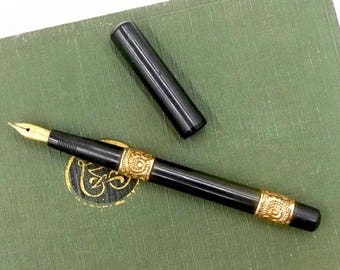 Antique WATERMAN'S IDEAL PEN John Wanamaker Waterman's Idel New York Gold Nib Fountain Pen