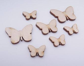 Wooden Butterfly for Crafts - Laser Cut