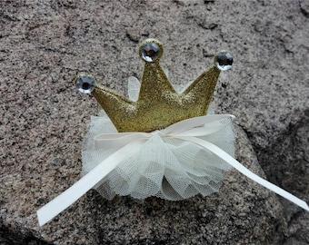 Girls Gold Crown/Princess Crown/Girls Birthday Gift/Crown hair Clips/Glitter Crown/Girls Hair Clip/Toddlers Hair clips