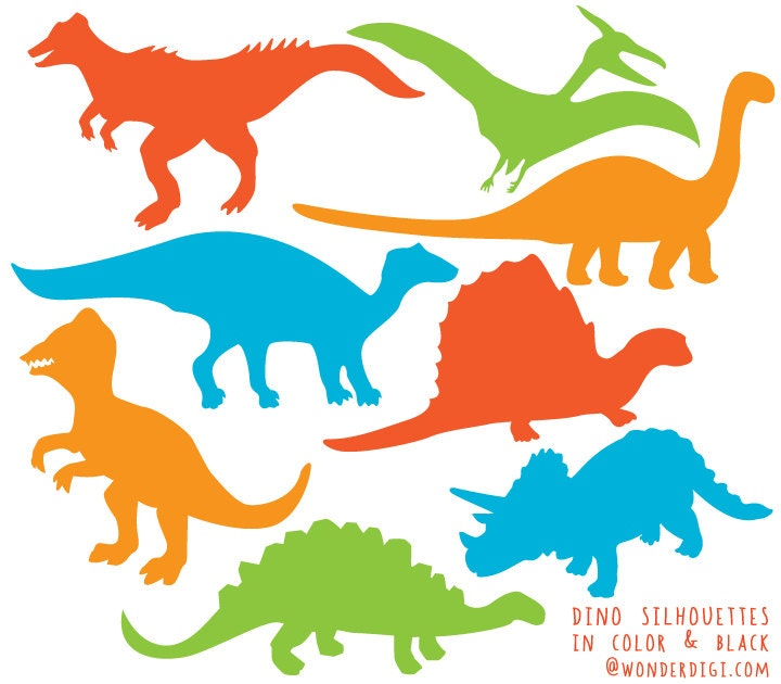 dinosaur clipart dinosaurs silhouette clip art dino rh etsy com dinosaur clip art for kids black and white