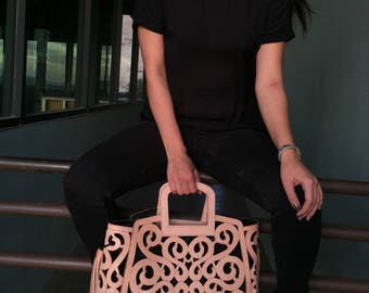 Jovanna- Gorgeous Leather Tan Tote Handbag; Artisan-Made in Mexico- Perfect Gift for Mother's Day