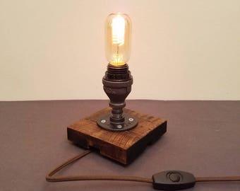 Black Pipe Desk Lamp   Table Lamp   Edison Bulb Lamp   Industrial Pipe Lamp
