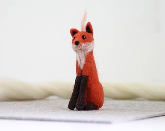 Fox Needle Felting Kit, Needle Felted Animal, Felting Kit, Needle Felted Fox, Felt Animals, Felting Wool, Needle Felting Kit, DIY Kit