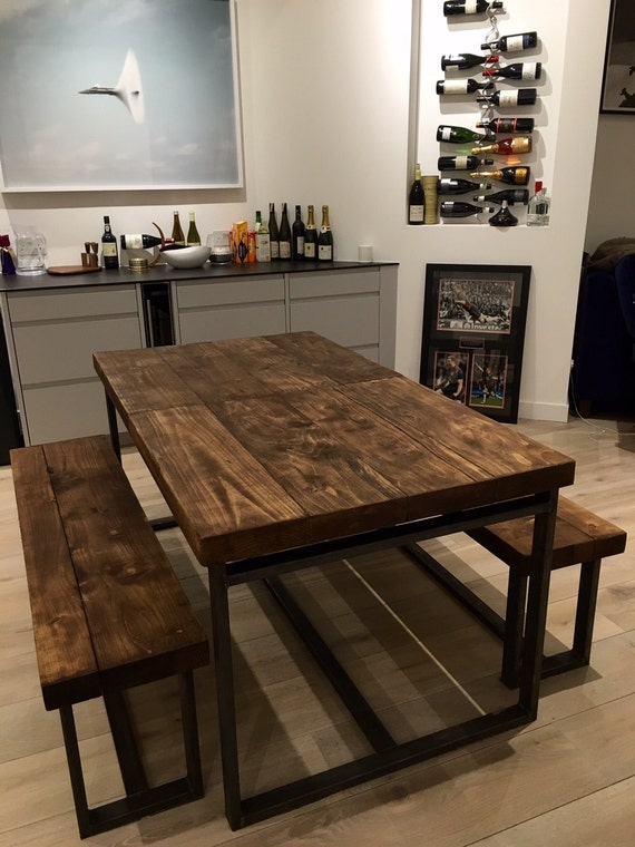 Attirant Reclaimed Industrial Chic 6 10 Seater Extending Dining Table