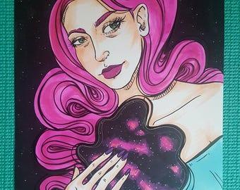 Galaxy Heart Original Drawing