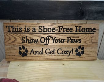 Shoe-Free Home sign