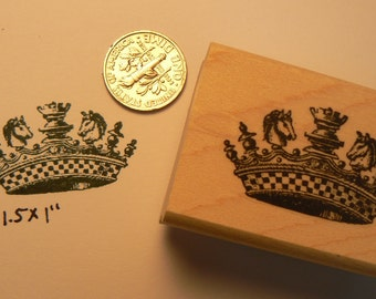 P32 Chess Crown rubber stamp