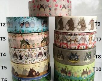 NOUVELLE TOTORO Washi Tape Set - choisissez votre propre TOTORO Washi Tape échantillon (50cm par conception)