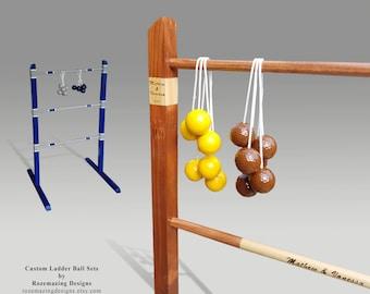 Personalized Wedding games Portable Ladder Ball ladder toss Wooden Ladder Golf ball bolas Ladderball bola ball Hillbilly housewarming gift