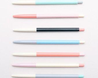 Colour Block Pens — Ball Point Pen — Black Ink