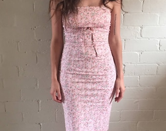 Pretty In Pink Strapless Dress