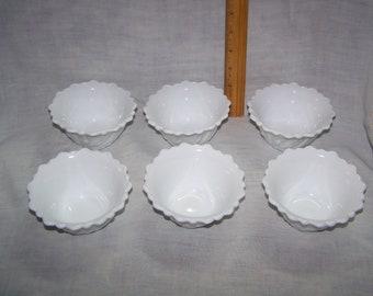 Milk Glass Ice Cream Cups