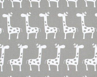 "Premier Prints Fabric-GIRAFFE Stretch Storm Gray- or color Choice-Premier Prints Fabric by the yard 54"" wide-1 yard"