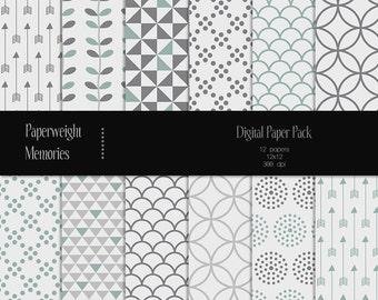 Sweet Emotion - Digital Paper - Instant download - digital scrapbooking - patterned paper - CU ok