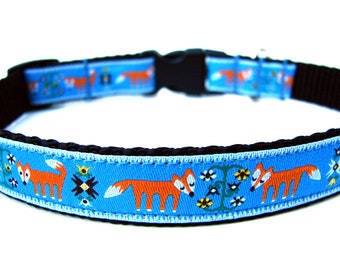 "Unique Dog Collar 5/8"" Fox Dog Collar"