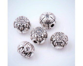 10 or 30 Lotus Pod Spacer Beads Small Serene Lovely Bracelet Beading Jewelry Supplies About 8x6mm