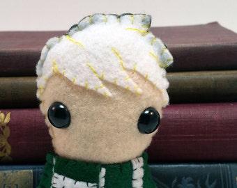 Draco Malfoy - Hogwarts plushie (made to order)