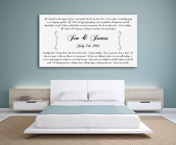 Personalised 1st Wedding Anniversary Gifts: Personalized Anniversary Gift 1st Wedding Anniversary Gift