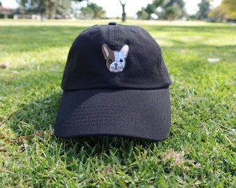 Black Dad Cap French Bulldog Low Profile Hat **Free Domestic Shipping**