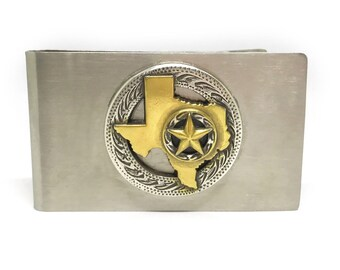 State of Texas Money Clip – Two-Tone