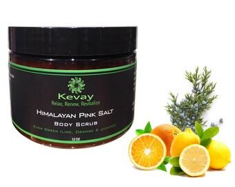 Organic Himalayan Pink salt scrubs