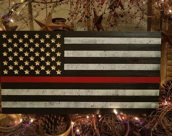 Fire Fighter American Flag
