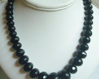 Graduated Golden Sheen Obsidian necklace