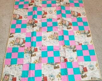 Paris themed lap quilt