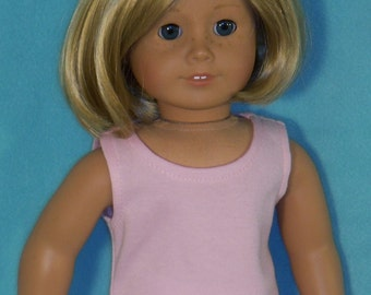 American Made 18 inch Doll Pink or Blue Sleeveless Tank Tee Shirt