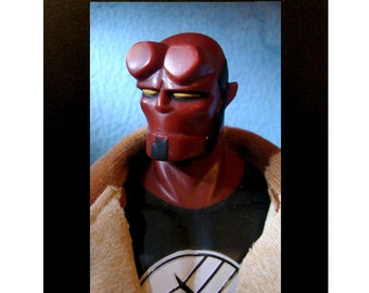 "Framed Hellboy Toy Photograph 4"" x 6"""