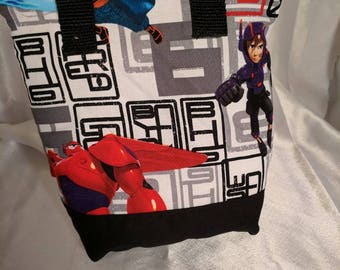 Kid sized Big Hero Six Insulated Zip-up Lunch bag