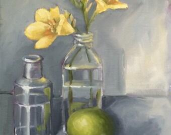 Yellow Freesia Painting • Original Art • Oil Paintings • Daily Painters • Daily Painting • Freesia