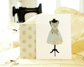 Fashion Stationery (8 Variety Pack), Die Cut Dress Form Stationary, Handmade Envelopes, Seamstress Flat Note Cards, Gift for Mom, Snail Mail