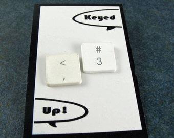iTacks, <3, Upcycled, Recycled, Apple, Mac Computer Key, Thumbtacks - set of 3, gift, birthday
