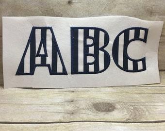 Applique Font Embroidery Design, Font Applique Embroidery Design, Bold Applique Embroidery Design