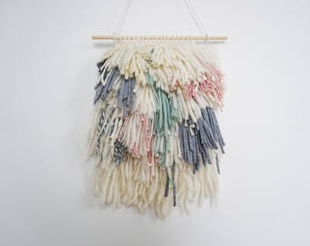 woven wall hanging/ shaggy wall hanging /woven wall tapestry /weaving wall hanging /yarn wall hanging/ textile wall weaving