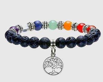 Tree Of Life Chakra Beaded Bracelet
