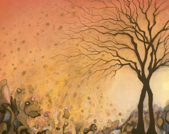 """Giclée print of original mixed media painting by Amber Gorsline - """"Trees"""""""
