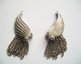 Vintage Angel Wing Clip-On Earrings